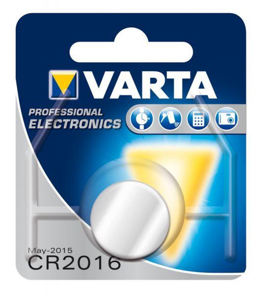 VARTA Knopfzellenbatterie Electronics CR2016 Lithium